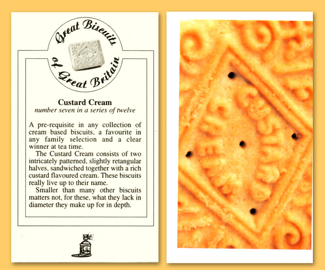 Card number seven - The Custard Cream