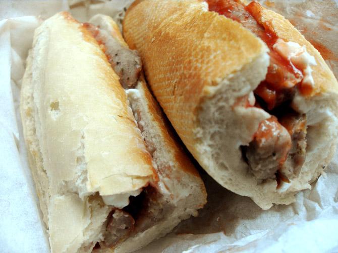 Cheap bread? Check. Cheap sausage? Check? Cash & Carry sauce? Check.